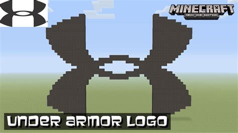minecraft tutorial world logo minecraft pixel art tutorial under armor logo youtube