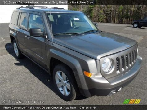 gray jeep patriot mineral gray metallic 2013 jeep patriot latitude