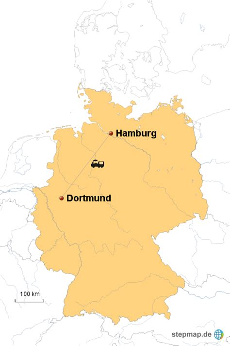 deutsches büro grüne karte hamburg zugfahrt dortmund hamburg linneweber landkarte f 252 r
