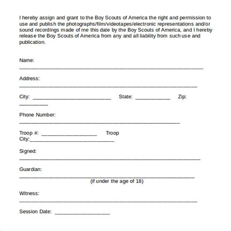 sample talent release forms 9 download free documents