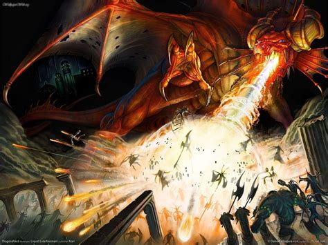 Dragons Images Attack Hd Wallpaper by Dungeons And Dragons Wallpapers Wallpaper Cave