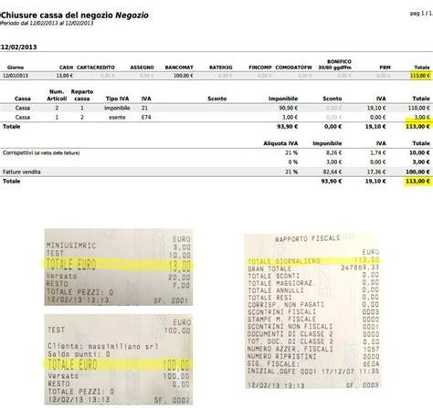 fattura carrozziere cassa chiusura fiscale e registro corrispettivi