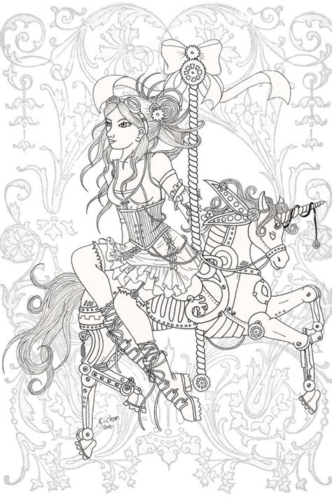 dover coloring pages steam punk coloring pages