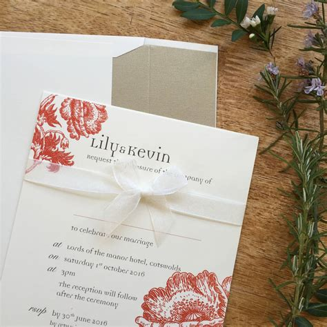 the range wedding invitations vintage anemone wedding stationery range by tigerlily weddi with wedding invitations clam