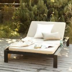 Outside Chaise Lounge Wood Slat Double Lounger Modern Outdoor Chaise Lounges
