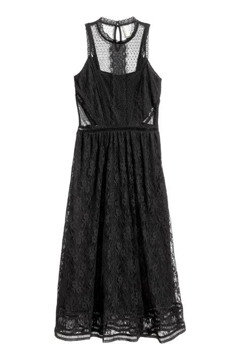 H Caseli Dress Set Black lace maxi dress black sale h m us
