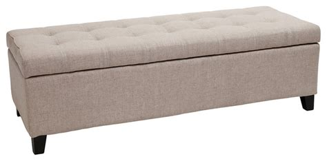 cloth storage bench santa rosa beige tufted fabric storage ottoman bench