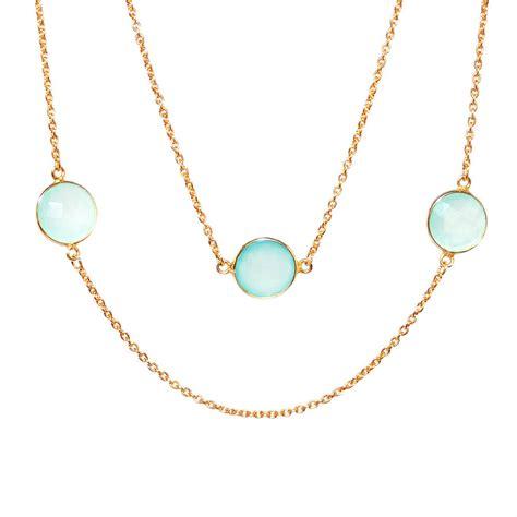 aqua chalcedony timeless necklace by amara amara