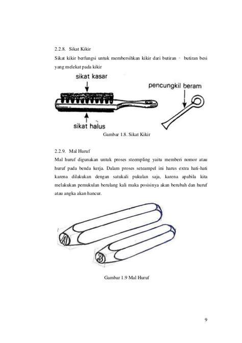 Tangkai Gergaji Besi makalah teknik kerja bangku dan pelat