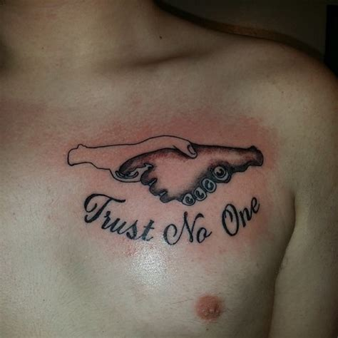 trust none tattoo tattoos trust no one quotes quotesgram