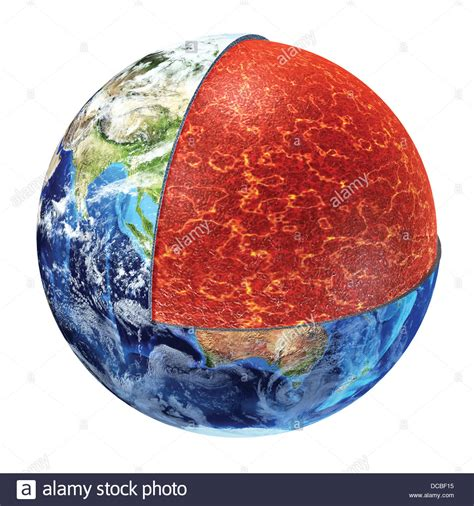 cross section earth earth cross section showing the upper mantle made by