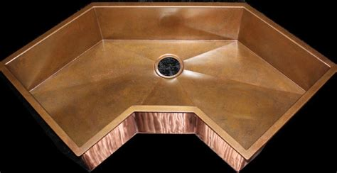 corner undermount kitchen sinks corner copper sink eclectic kitchen sinks other metro by rachiele llc