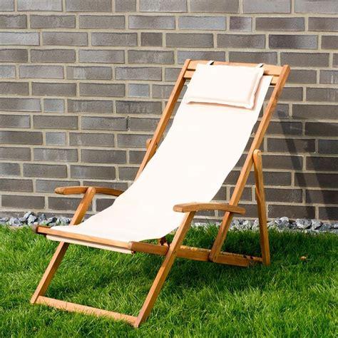 sdraio in legno da giardino sdraio da giardino pieghevole in legno e tessuto beige con