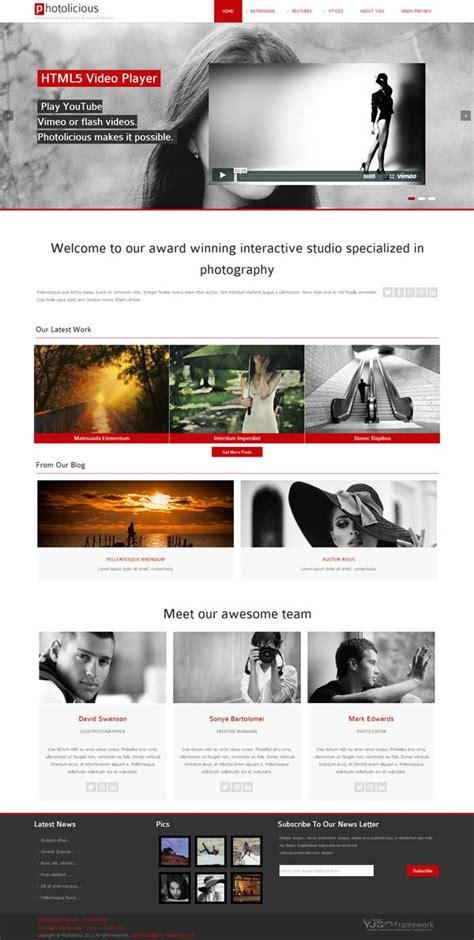 joomla photographer template photolicious joomla photo studio template