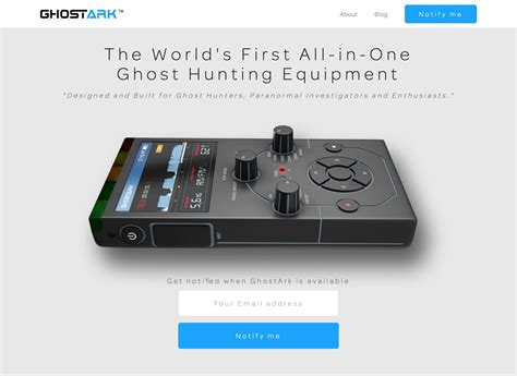 ghostark capture record paranormal entities betalist