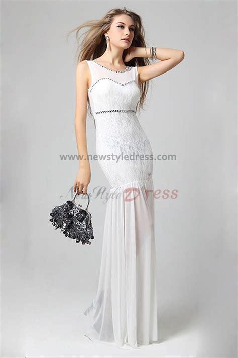 billige brautmode mermaid cheap ivory glass drill neckline prom
