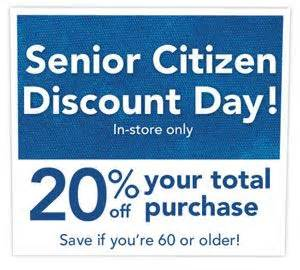 is there a certain day for senior discount at great clips senior citizen discount day at joann s on wednesdays