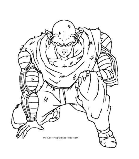 coloring pages of dragon ball z characters free dragonball z coloring pages