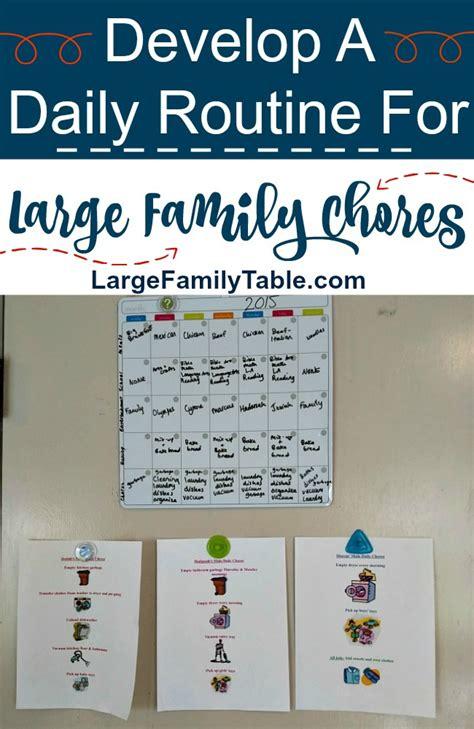 jamerrill large family table large family chores jamerrill s large family table