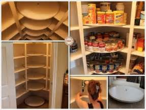 this diy lazy susan pantry is just for food storage
