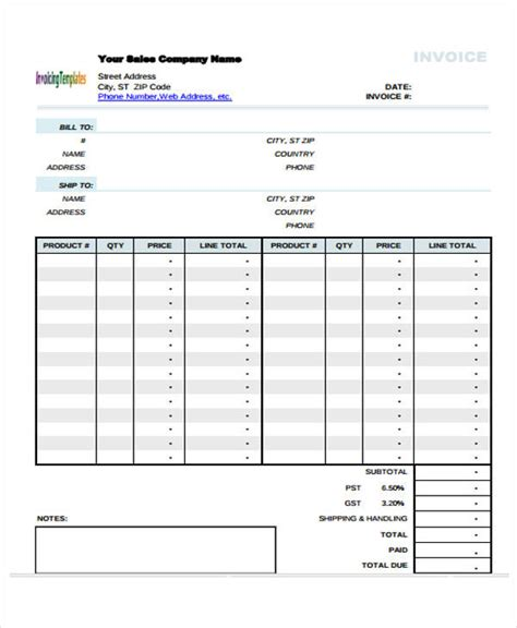 simple sales invoice template 12 simple invoice templates free sle exle format