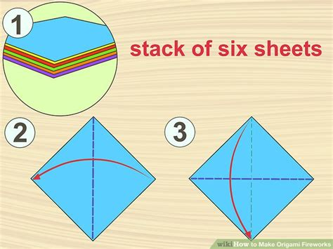 How To Make Origami Fireworks - how to make origami fireworks with pictures wikihow