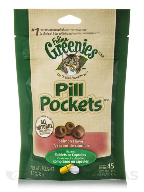 pill pockets pill pockets 174 salmon flavor for cats tablets or capsules size 45 treats