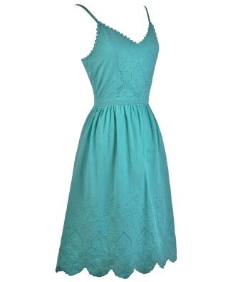 Midi Dress Vb Blink jade green midi a line dress jade green sundress summer dress boutique