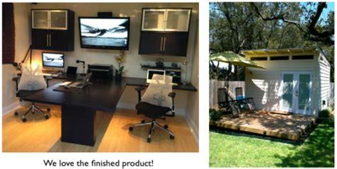 couple builds modern backyard office