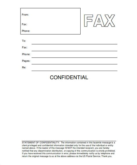 fax cover sheet template pdf confidential fax cover sheet 8 free word pdf documents