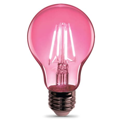 pink light bulbs a19 clear glass pink susan g komen led bulb feit electric