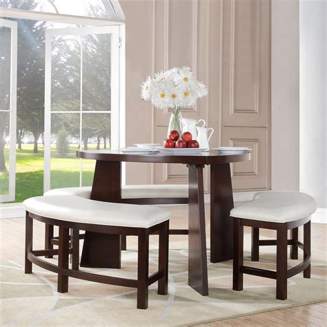 home decorators collection nassau 4 cherry dining set 405315 4pc the home depot