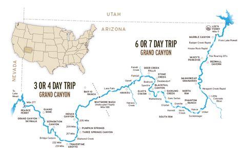 colorado river grand map grand rafting trips