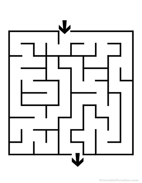 printable easy maze puzzles printable square maze easy difficulty