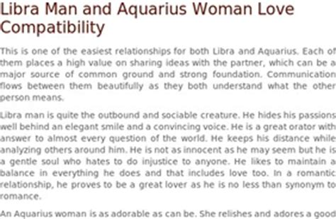 stumblers who like libra man and aquarius woman love