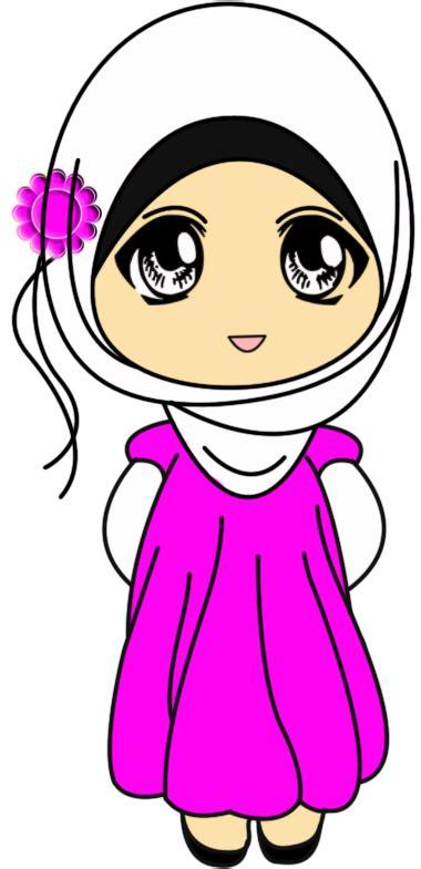 doodle persahabatan gambar comel kartun muslimah gambar c