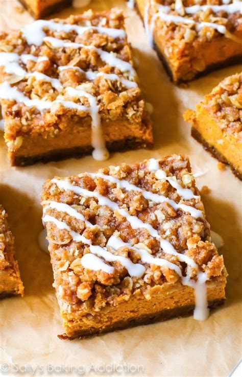 pumpkin bars with streusel topping pumpkin streusel bars sallys baking addiction