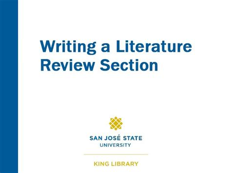 review section writing a literature review section on vimeo