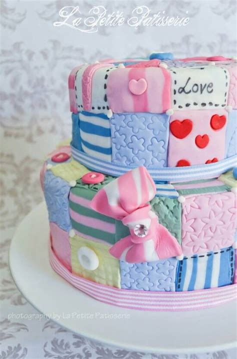 Patchwork Quilt Cake - patchwork cake cakes and food decoration