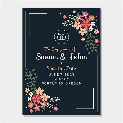 Engagement Invitation Free Vector Art 9467 Free Downloads Engagement Invitation Card Template