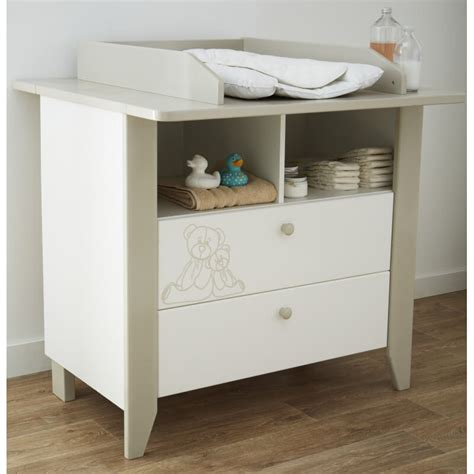 Commode à Langer Blanche by Commode 224 Langer Contemporaine Blanche Marron Clair Ted