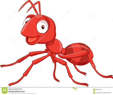 Clipart Vector Of The Carpenter Cartoon Illustration Of red ant clipart