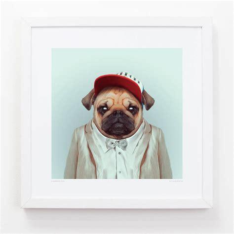 pug print pug print by evermade notonthehighstreet