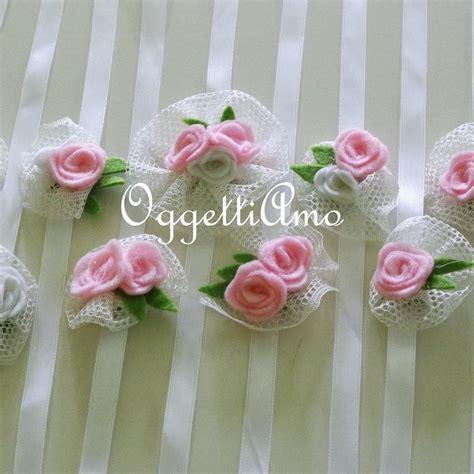 fiori tulle coccarde di tulle e fiori in feltro come segnaposto o per