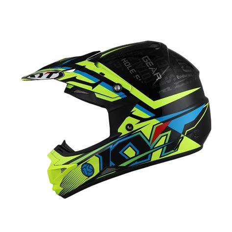 Helm Kyt Motocross jual kyt cross step up helm motocross black yellow fluo cyn blue harga