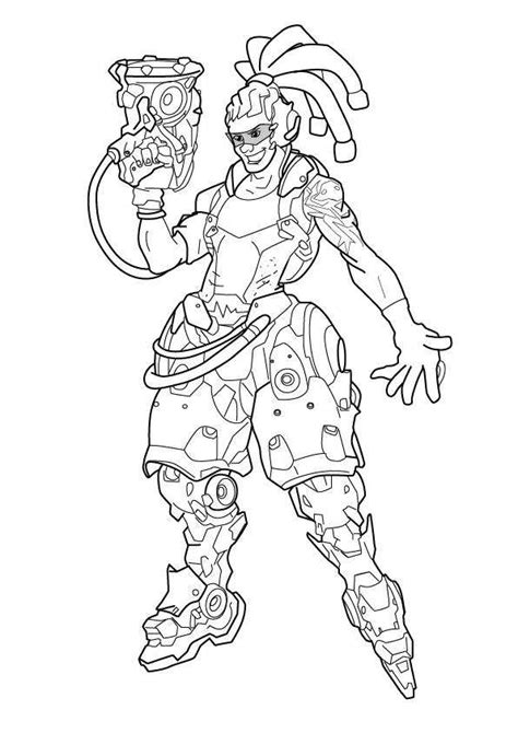 printable heroes lady of pain overwatch heroes coloring page lucio get coloring pages