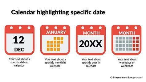 design dates calendar flat design templates powerpoint timeline