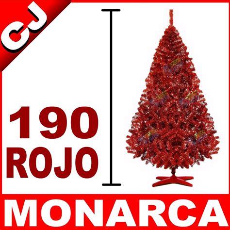 arbol navidad rojo 190 monarca pachon envio gratis