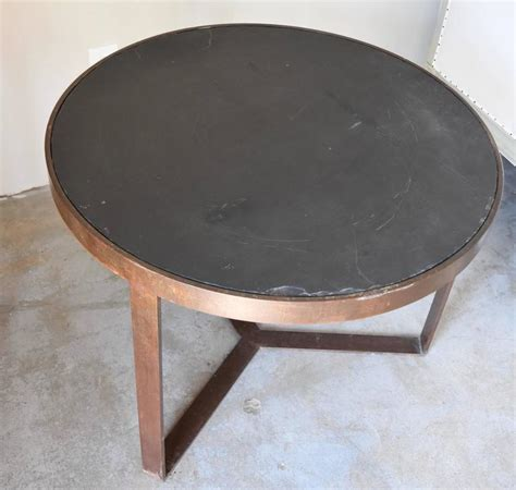 Handmade Table L - handmade european black iron side table with black