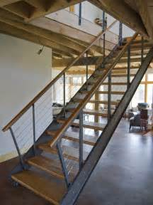 How To Make Steel Stairs by Industrial Staircase Design Ideas Remodels Amp Photos